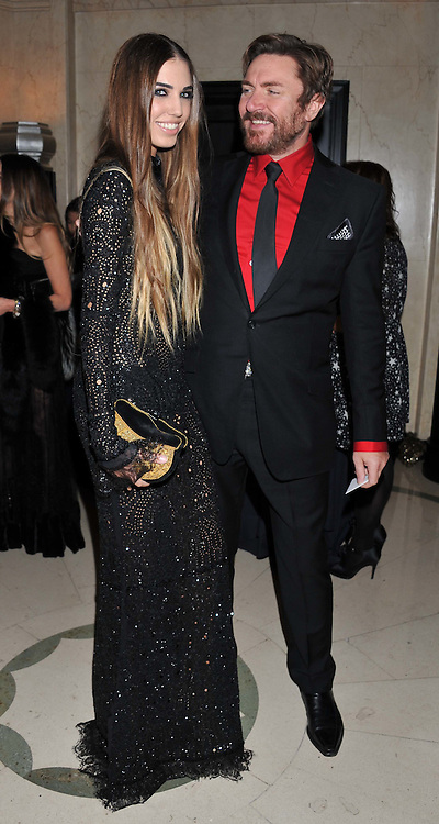 SIMON LE BON and his daughter AMBER LE BON at the Harper's Bazaar Women of the Year Awards 2011 held at Claridge's, Brook Street, London on 7th November 2011.