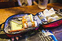 Backcountry first aid kit, Mount Hayden Backcountry Lodge, San Juan's.