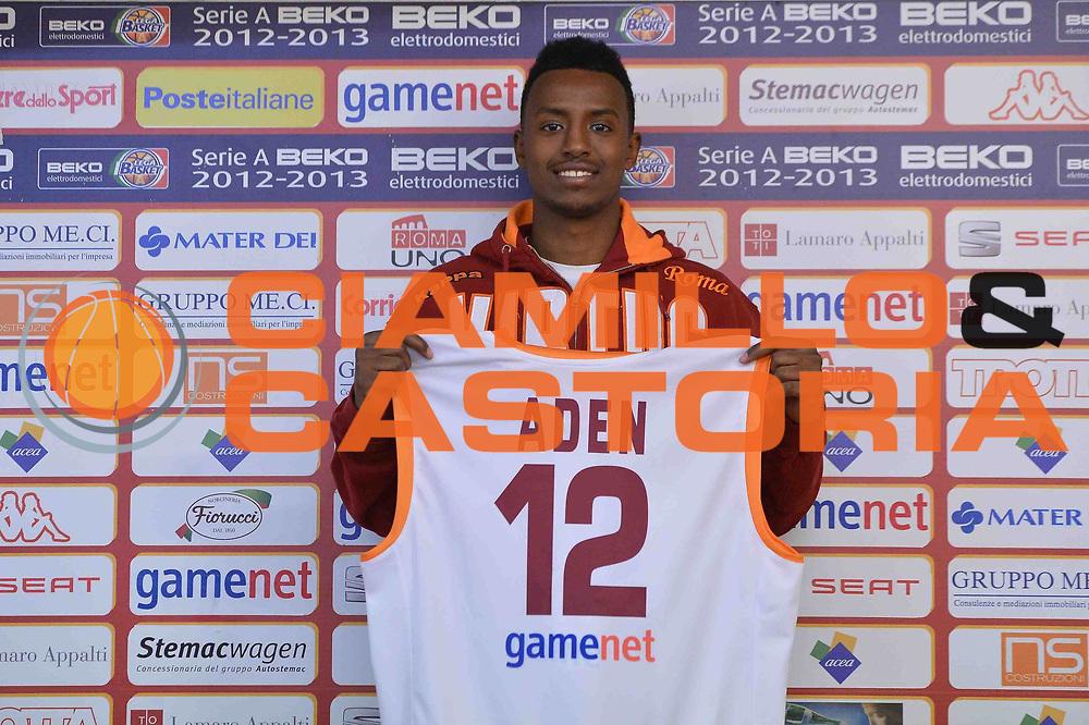 DESCRIZIONE : Roma Lega A 2012-13 conferenza stampa presentazione Faisal Aden<br /> GIOCATORE : Faisal Aden<br /> CATEGORIA : ritratto<br /> SQUADRA : Acea Roma<br /> EVENTO : conferenza stampa presentazione Faisal Aden<br /> GARA :  <br /> DATA : 23/02/2013<br /> SPORT : Pallacanestro <br /> AUTORE : Agenzia Ciamillo-Castoria/GiulioCiamillo<br /> Galleria : Lega Basket A 2012-2013  <br /> Fotonotizia : Roma Lega A 2012-13 conferenza stampa presentazione Faisal Aden<br /> Predefinita :