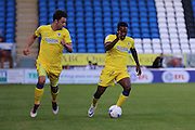 AFC Wimbledon striker Dominic Poleon (10) and AFC Wimbledon midfielder Chris Whelpdale (11) during the EFL Cup match between Peterborough United and AFC Wimbledon at ABAX Stadium, Peterborough, England on 9 August 2016. Photo by Stuart Butcher.
