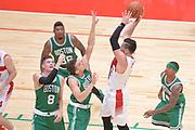 DESCRIZIONE : Milano NBA Global Games EA7 Olimpia Milano - Boston Celtics<br /> GIOCATORE : Alessandro Gentile<br /> CATEGORIA : Passaggio precario<br /> SQUADRA :  Olimpia EA7 Emporio Armani Milano<br /> EVENTO : NBA Global Games 2016 <br /> GARA : NBA Global Games EA7 Olimpia Milano - Boston Celtics<br /> DATA : 06/10/2015 <br /> SPORT : Pallacanestro <br /> AUTORE : Agenzia Ciamillo-Castoria/IvanMancini<br /> Galleria : NBA Global Games 2016 Fotonotizia : NBA Global Games EA7 Olimpia Milano - Boston Celtics