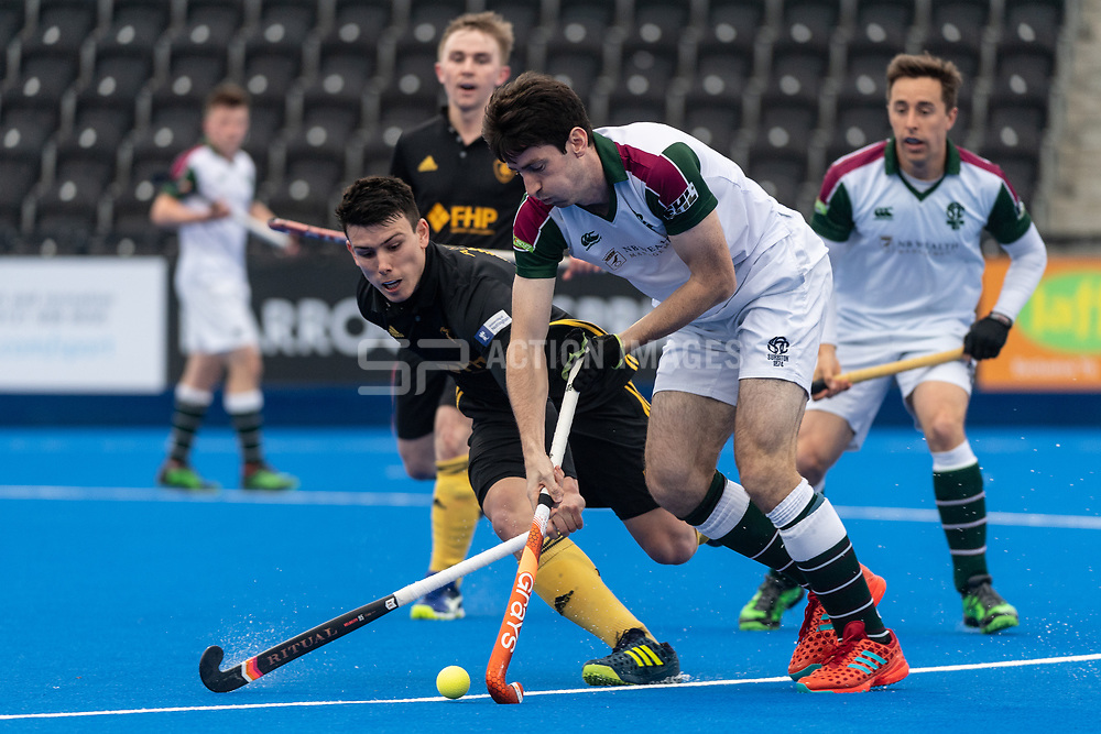 Surbiton's Luke Taylor. Surbiton v Beeston - Men's Hockey League Finals, Lee Valley Hockey & Tennis Centre, London, UK on 28 April 2018. Photo: Simon Parker