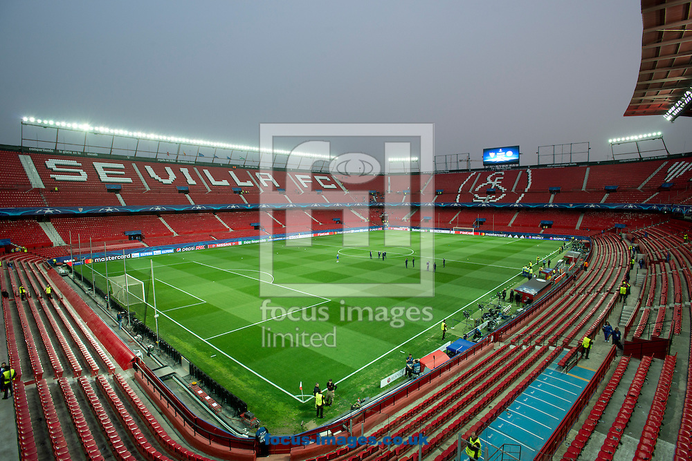 A general view of the stadium before the UEFA Champions League match at Ramon Sanchez Pizjuan Stadium, Seville<br /> Picture by Russell Hart/Focus Images Ltd 07791 688 420<br /> 22/02/2017
