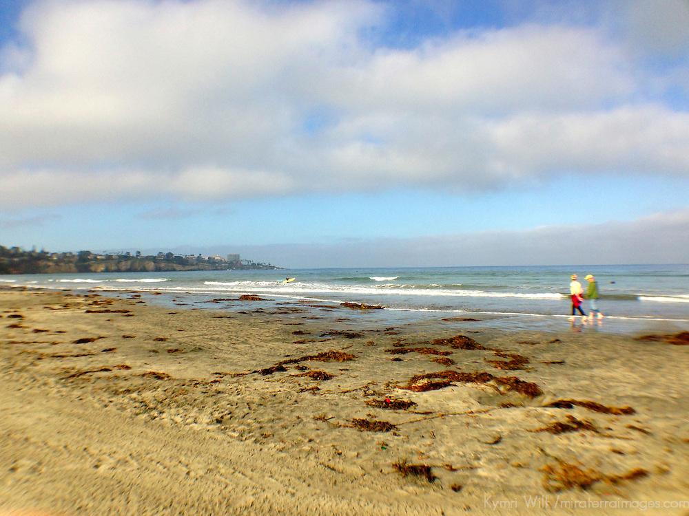 USA, California, San Diego. La Jolla Shores beach.