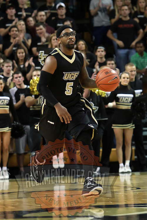 Central Florida guard Marcus Jordan (5) during the NCAA basketball game against the USF Bulls at the UCF Arena on November 18, 2010 in Orlando, Florida. UCF won the game 65-59. (AP Photo/Alex Menendez)