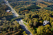 Nederland, Utrecht, Zeist, 28-10-2014; ecoduct Sterrenberg (v/h Huis ter Heide), N237.<br /> Ecoduct.<br /> luchtfoto (toeslag op standard tarieven); aerial photo (additional fee required); copyright foto/photo Siebe Swart