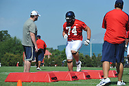 Ole Miss' Jared Duke (74) goes through a drill as Ole Miss began football practice in Oxford, Miss. on Saturday, August 4, 2012.