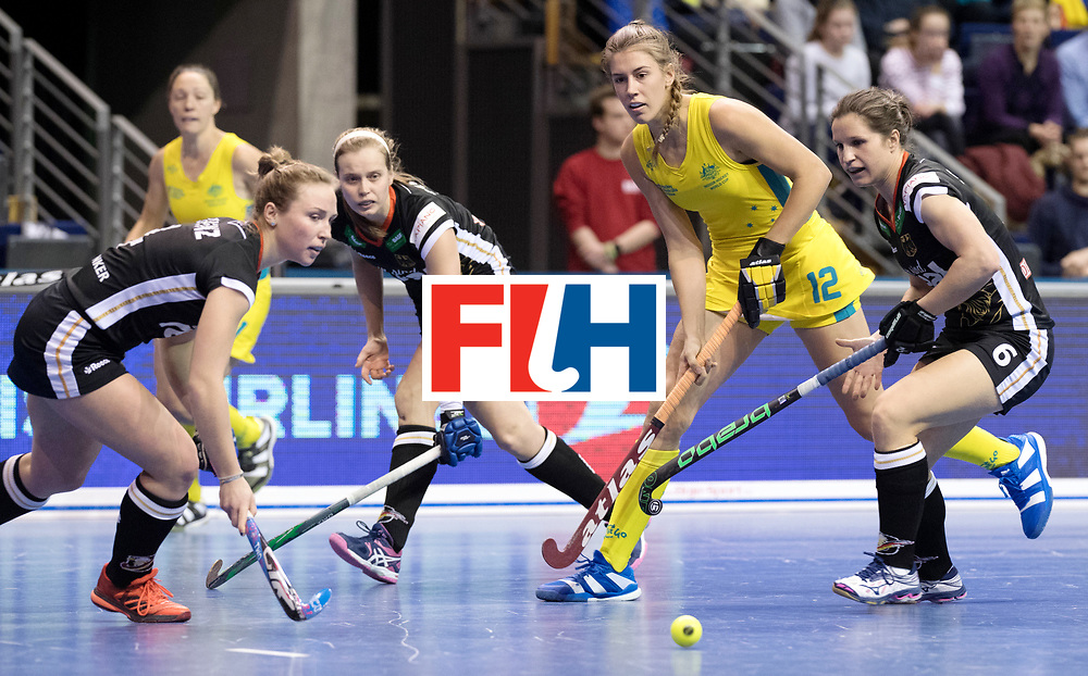 BERLIN - Indoor Hockey World Cup<br /> Women: Germany  - Australia<br /> foto: SOMERVILLE Karri.<br /> WORLDSPORTPICS COPYRIGHT FRANK UIJLENBROEK