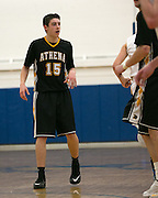 Brendon Wind of Greece Athena during a game at Webster Schroeder High School on Friday, January 23, 2015.