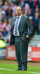 SUNDERLAND, ENGLAND - Saturday, August 16, 2008: Liverpool's manager Rafael Benitez against Sunderland during the opening Premiership match of the season at the Stadium of Light. (Photo by David Rawcliffe/Propaganda)
