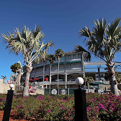 March 13, 2011; Fort Myers, FL, USA; A general view outside before a spring training exhibition game between the Philadelphia Phillies and the Minnesota Twins at Hammond Stadium.   Mandatory Credit: Derick E. Hingle