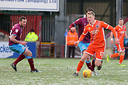 Shrewsbury Town defender Luke Hendrie (17) attacking  during the EFL Sky Bet League 1 match between Scunthorpe United and Shrewsbury Town at Glanford Park, Scunthorpe, England on 17 March 2018. Picture by Mick Atkins.