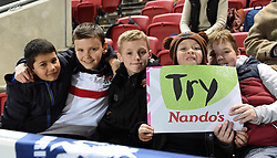 Spectators at the Six Nations U20 match between England and Wales at Ashton Gate Stadium on March 11, 2016 in Bristol, England - Mandatory by-line: Paul Knight/JMP - Mobile: 07966 386802 - 11/03/2016 -  RUGBY - Ashton Gate Stadium - Bristol, England -  England U20 v Wales U20 - Six Nations U20