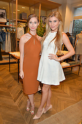 Left to right, DANIELLE LATIMER and CHLOE OTHEN at the Club Monaco Summer Cocktail party held at their store at 33 Sloane Square, London on 20th July 2016.