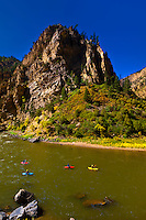 Kayaking on the Colorado River in Glenwood Glenwood Springs, Colorado USA