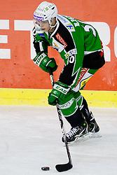 Eric Pance (HDD Tilia Olimpija, #30) during ice-hockey match between HDD Tilia Olimpija and Moser Medical Graz 99ers in 42nd Round of EBEL league, on Januar 15, 2012 at Hala Tivoli, Ljubljana, Slovenia. HDD Tilia Olimpija defeated Moser Medical Graz 99ers 4:2. (Photo By Matic Klansek Velej / Sportida)