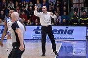 DESCRIZIONE : Sassari LegaBasket Serie A 2015-2016 Dinamo Banco di Sardegna Sassari - Giorgio Tesi Group Pistoia<br /> GIOCATORE : Vincenzo Esposito<br /> CATEGORIA : Allenatore Coach<br /> SQUADRA : Giorgio Tesi Group Pistoia<br /> EVENTO : LegaBasket Serie A 2015-2016<br /> GARA : Dinamo Banco di Sardegna Sassari - Giorgio Tesi Group Pistoia<br /> DATA : 27/12/2015<br /> SPORT : Pallacanestro<br /> AUTORE : Agenzia Ciamillo-Castoria/L.Canu
