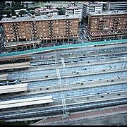Firenze Stazione Rifredi, il progetto architettonico è dello studio di Norman Foster prevede in questa area la futura stazione sotteranea dell'alta velocità.......Fotografie aeree a bassa quota di diverse parti della città realizzate da un pallone aerostatico che ha sorvolato sul cielo di Firenze con appesa una macchina fotografica.
