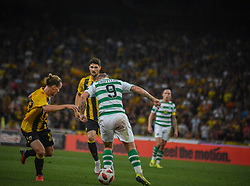 August 14, 2018 - Athens, Greece - Griffiths Leigh of Celtic pass the ball to his teammates during   the UEFA Champions League 3rd Qualifying round second  leg match AEK FC  vs Celtic FC at the Olympic Stadium of Athens , on 14 August 2018. (Credit Image: © Giannis Alexopoulos/NurPhoto via ZUMA Press)