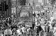 Grimethorpe Branch banner. 1992 Yorkshire Miners Gala, Barnsley.