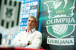 Marijan Pusnik introduced as a new coach during press conference of NK Olimpija before new season 2015/16, on June 10, 2015 in Austria Trend Hotel, Ljubljana, Slovenia. Photo by Vid Ponikvar / Sportida