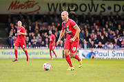 Russell Penn during the Pre-Season Friendly match between York City and Newcastle United at Bootham Crescent, York, England on 29 July 2015. Photo by Simon Davies.