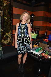 TESS WARD at a private dinner for designer Ethan K held at Blakes Hotel, 33 Roland Gardens, London on 26th October 2016.