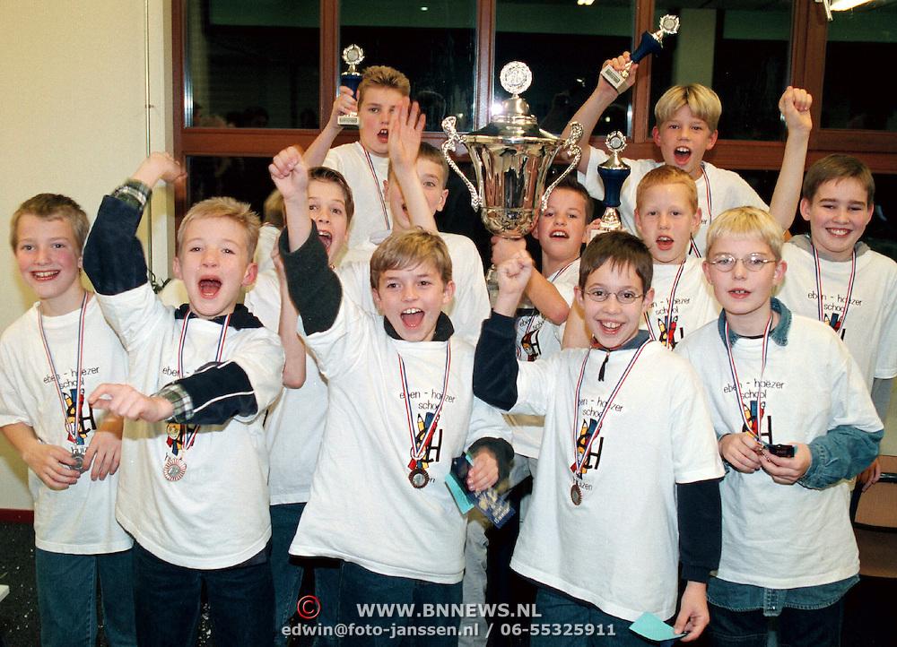 Eben - Haezerschool winnaar schooldammen, prijsuitreiking