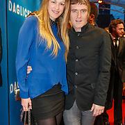 NLD/Amsterdam/20130408 - Filmpremiere Daglicht, Phil Tilli en partner Annemieke Schollaardt