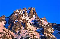 12,325 ft. Teewinot Mountain of the Teton Range.  Grand Teton National Park.  Wyoming