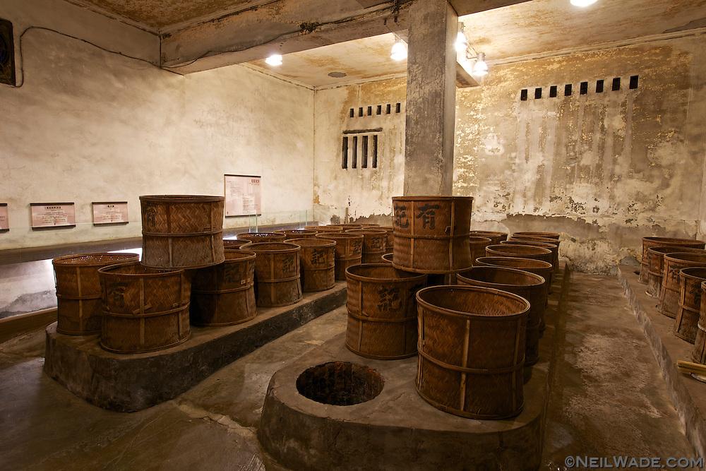 The tea roasting room in Wang Tea.