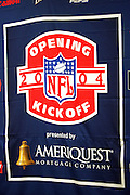 FOXBOROUGH, MASSACHUSETTS - SEPTEMBER 9:  Ameriquest signage on display at the opening game of the 2004 NFL season featuring the New England Patriots against the Indianapolis Colts at Gillette Stadium on September 9, 2004 in Foxborough, Massachusetts. ©Paul Anthony Spinelli *** Local Caption *** NFL Opening Kickoff Sign