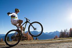 """02.11.2015, Zettelfeld, Thurn, AUT, Dreharbeiten zur ORF-Sendung """"Sport am Sonntag"""", drei Radsport-Weltmeister aus Tirol, im Bild Daniel Federspiel (UCI Weltmeister Cross Country Eliminator) // during Shooting of ORF broadcast """"Sport am Sonntag"""", three cycling World Champion from Tyrol at Zettersfeld in Lienz, Austria on 2015/11/02. EXPA Pictures © 2015, PhotoCredit: EXPA/ Johann Groder<br /> <br /> ***** ACHTUNG REDAKTEURE - Bei Veröffentlichung vor dem geplanten Sendetermin am 6. November 2015, ist die Nennung """"Dreharbeiten zur ORF-Sendung Sport am Sonntag"""" in der Bildunterschrift/Credit verpflichtend *****"""