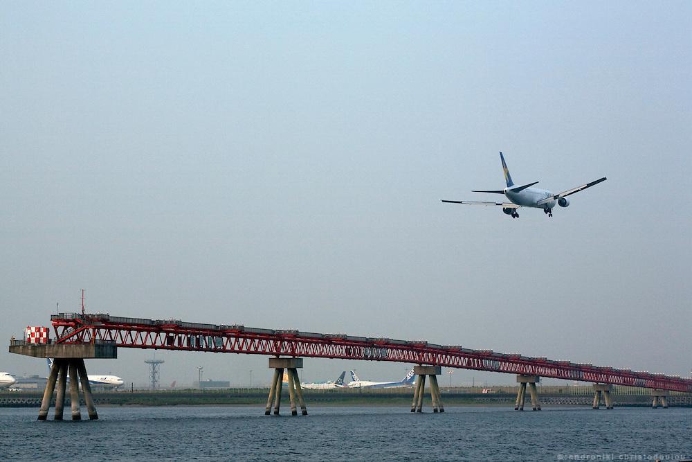 View of Haneda airport from Jonanjima Kaihin Park.