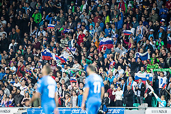 Spectators during the 2020 UEFA European Championships group G qualifying match between Slovenia and Israel at SRC Stozice on September 9, 2019 in Ljubljana, Slovenia. Photo by Grega Valancic / Sportida