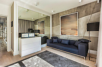 Photo of modern living room in rental business apartment