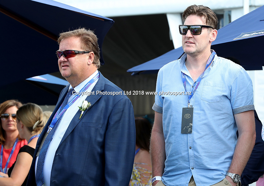 Peter Thompson and Dylan Boucher at Auckland Cup Day, Ellerslie Racecourse, Auckland, New Zealand, Saturday, March 10, 2018. Copyright photo: David Rowland / www.photosport.nz