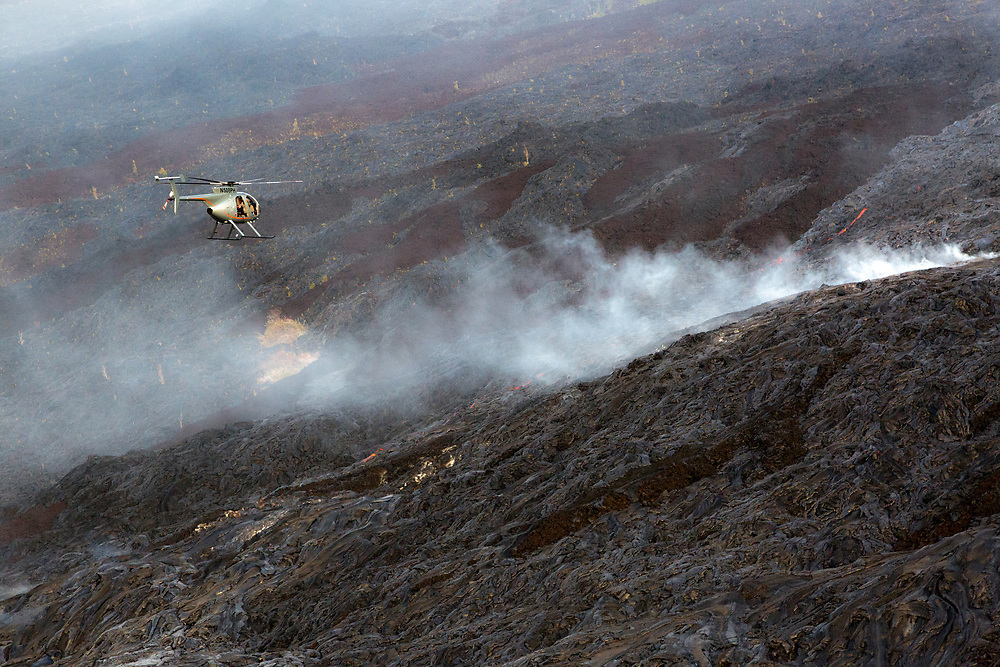 Lava flow from Hawaii's Kilauea Volcano, Volcanoes National Park, Hawaii