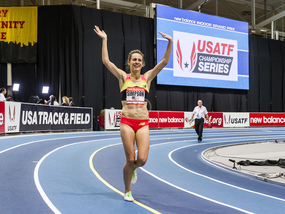 New Balance Indoor Grand Prix Track & FIeld:  Jenny Simpson wins women's Two Mile