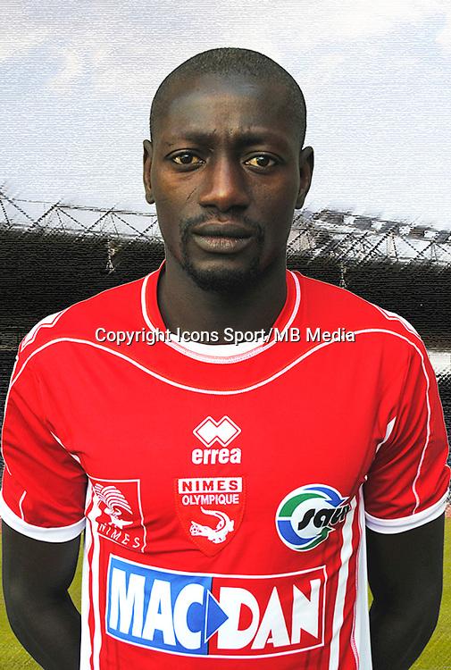 Mame Ousmane CISSOKHO - 26.09.2013 - Photo officielle - Nimes 2013/2014 - Ligue 2<br /> Photo : Icon Sport