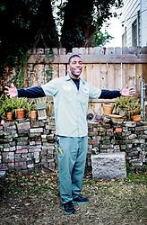20 January, 2014. New Orleans, Louisiana.<br /> Sherrod Mitchell, Terminix man.<br /> Photo; Charlie Varley/varleypix.com