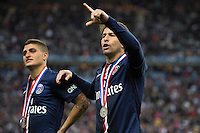 Joie PSG - Maxwell / Marco Verratti - 30.05.2015 - Auxerre / Paris Saint Germain - Finale Coupe de France<br />Photo : Andre Ferreira / Icon Sport
