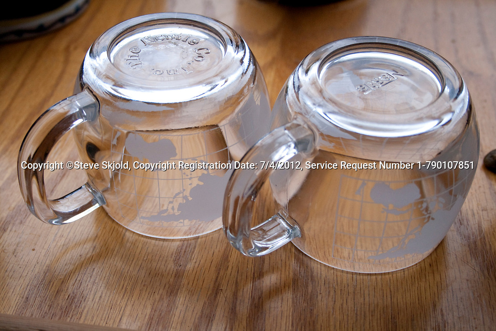 Two round the world glass cups - photographers favorite martini glasses. Cable Wisconsin WI USA