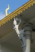 Phnom Penh, Cambodia. Royal Palace. Detail, Phochani Pavilion.