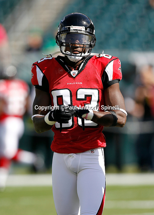 Atlanta Falcons wide receiver Harry Douglas (83) looks on during the NFL week 6 football game against the Philadelphia Eagles on Sunday, October 17, 2010 in Philadelphia, Pennsylvania. The Eagles won the game 31-17. (©Paul Anthony Spinelli)