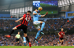 Kyle Walker of Manchester City challenges Jack Simpson of Bournemouth - Mandatory by-line: Matt McNulty/JMP - 23/12/2017 - FOOTBALL - Etihad Stadium - Manchester, England - Manchester City v Bournemouth - Premier League