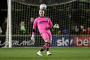 Forest Green Rovers goalkeeper Conrad Logan(26), on loan from Mansfield Town during the EFL Sky Bet League 2 match between Forest Green Rovers and Carlisle United at the New Lawn, Forest Green, United Kingdom on 28 January 2020.