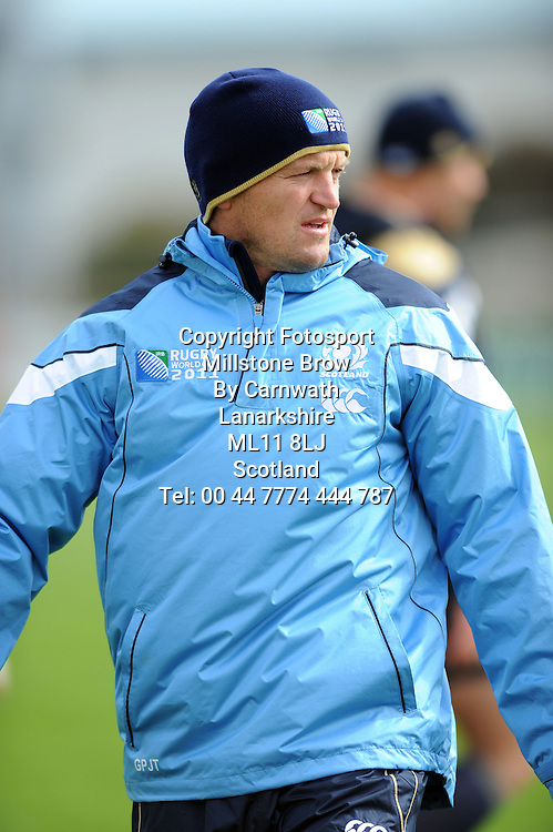 Gregor Townsend - Scotland backs coach.<br /> Scotland captain's run,Rugby Park, Rugby World Cup, Invercargill, Southland, New Zealand, Tuesday 13th September 2011<br /> PLEASE CREDIT ***FOTOSPORT/DAVID GIBSON***