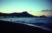 Sunrise, Waikiki Beach, Oahu, Hawaii<br />