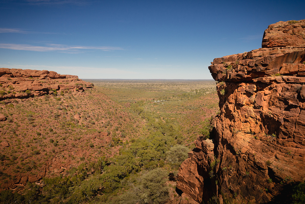 View over desert from  Kings Canyon